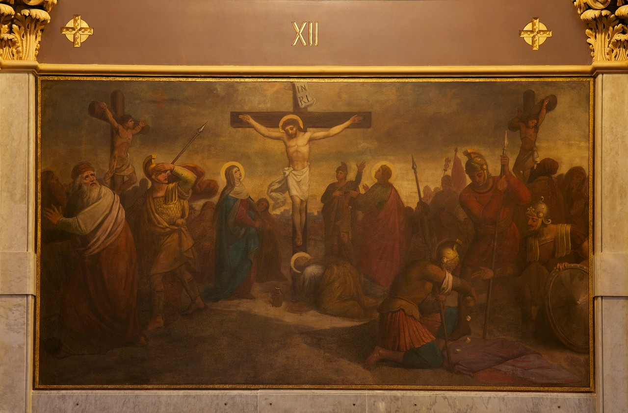 The Church of Saint Xavier, Jesus Dies Upon the Cross Mural by William Lamprecht<br /> <br /> This is one of about 50 murals in the church. It was painted by German William Lamprecht.