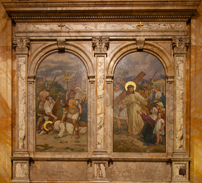 The Church of Saint Ignatius Loyola Mosaics<br /> <br /> Much of the wall space at the church is comprised of beautiful marble mosaics. Professor Paoletti for Salviati & Company of Venice designed the murals. The company was pleased with the works, which were publicly exhibited in Turin before arriving at the church.