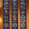 Saint James' Church Stained Glass Window of Jude, Simon, and Matthew by Henry Wynd Young Studio<br /> <br /> The bell at the bottom right hung from 1811 to 1869 in the steeple of the first Saint James' Church, in Hamilton Square, at what is now the corner of Lexington Avenue and 69th Street.<br /> <br /> Henry Wynd Young worked with John Gordon Guthrie, the artist that designed the rose window above the organ (see third photo in this gallery).