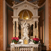 "Altar of Saint Joseph <br><br> From the<a href=""http://stjeanbaptisteny.org/History/Architectural-Tour""> Saint Jean Baptiste website,</a> number 13-16: <br><br> The statue at the Altar of Saint Joseph is also of Carrara marble and is believed to be of the same provenance as the statue of Our Lady.  In a very subtle fashion, the infant Jesus points to Saint Joseph, while Joseph, with his left hand, simultaneously holds a stem of lilies and points to his foster son."