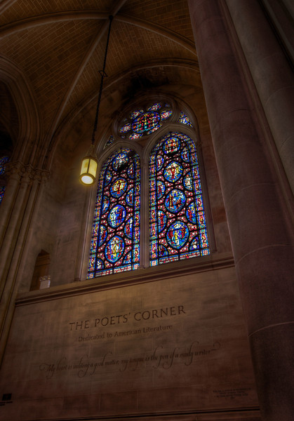 Saint John the Divine Poet's Corner<br /> <br /> This is the Poet's Corner at Saint John the Divine, dedicated to American literature.