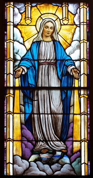 """Saint Patrick's Old Cathedral Stained Glass Window <br><br> I don't know much about the stained glass windows at the cathedral. The only information I have found was that after the Civil War, the Italian community made the church their home and contributed some of the finest stained-glass work in North America to the church according to <a href=""""http://www.nyc-architecture.com/SOH/SOH038.htm"""">New York City Architecture.</a>"""
