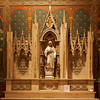 Saint Agnes Altar <br><br> Mural work is by William Laurel Harris. <br><br> At Saint Paul, William Laurel Harris (1870-1924) painted murals and designed decorative elements, continuing the work of LaFarge. He was born in Brooklyn. As a boy, he was befriended by Thomas Wilmer Dewing and Augustus and Augusta Saint-Gaudens. He studied at the School of the Museum of Fine Arts in Boston and the Academie Julian in Paris. He started working at Saint Paul in the 1880s taking over from LaFarge. He worked the project from 1898 until 1913 when he was fired by the Paulists, possibly resulting from a personal dispute.