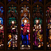 "Trinity Church Altar Stained Glass Windows by Richard Upjohn <br><br> According to the Trinity website, the stained glass windows are considered to be some of the oldest in the U.S. The windows were made on site, in a shed erected in the churchyard during the church's construction. From left to right are Peter, Matthew, Mark, Jesus, Luke, John, and Paul. <br><br> Church architect Richard Upjohn (1802–1878) designed the widows. Upjohn was an English-born architect who emigrated to the U.S. and became most famous for his Gothic Revival churches. He was partially responsible for launching the movement to such popularity in the U.S. Upjohn, along with 13 other architects, co-founded the American Institute of Architects in 1857. He served as president from 1857 to 1876. The  <a href=""http://www.trinitywallstreet.org/news/articles/richard-upjohns-world"">Trinity website</a> has a list of the hundreds of U.S. churches designed by Upjohn. <br><br> Upjohn is honored together with architect Ralph Adams Cram and artist John LaFarge with a feast day on the liturgical calendar of the Episcopal Church (USA) on December 16."