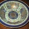 Large blue Chinese ceramic bowl with gold, late 18th Century (NY - under bureau?)