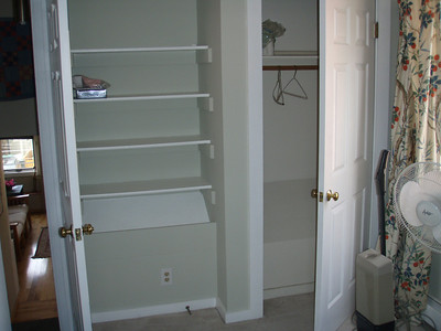 Office - could probably pull it out a bit and combine the closet and the built-in to make one large closet.  (Door to the left is the door that closes the room.)