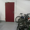 Bicycle storage room in the basement