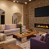 Rustic Living Room with Purple Accents