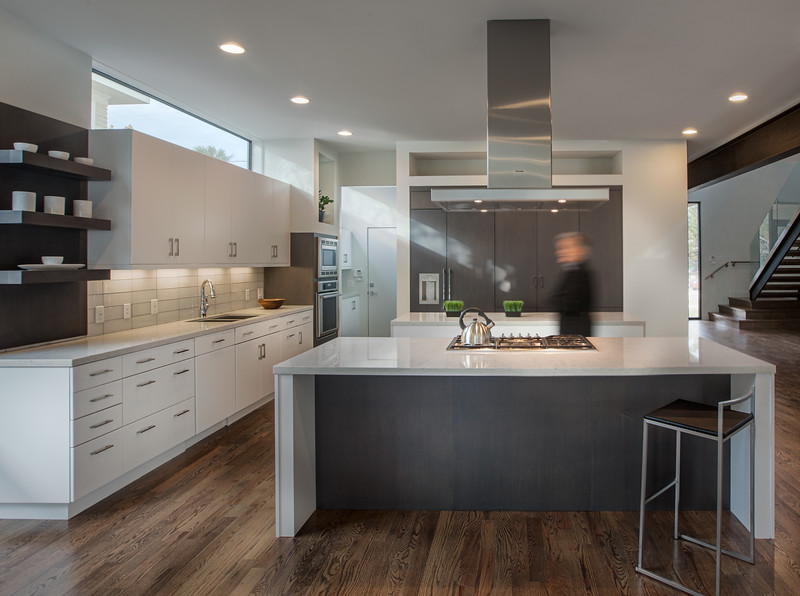 Modern Kitchen with Hood Range