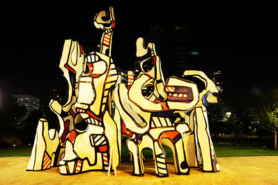 Houston's Picasso statue in front of the George R. Brown Convention Center......or whatever.