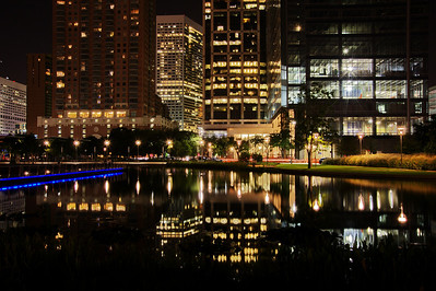 Discovery Green Park reflection pool