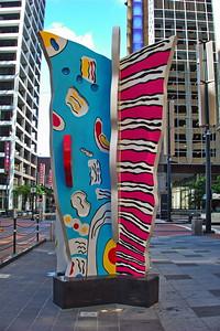 Downtown Sidewalk Art Statues