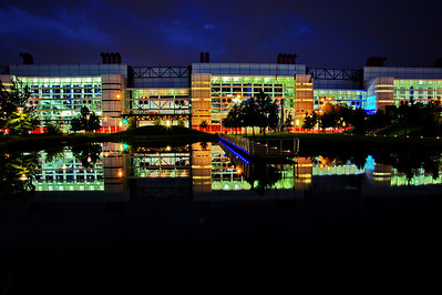George R Brown Convention Center reflection Nikon D3s+Nikkor 24-85mm, @ 24mm, ISO 200, f/22, 20 second exposure