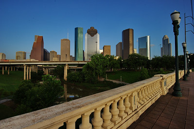 Houston skyline from Sabine St. bridge