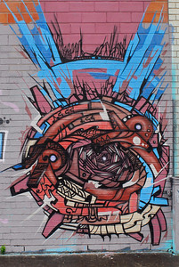 XL Parts Building Grafitti, 3000 Crawford St