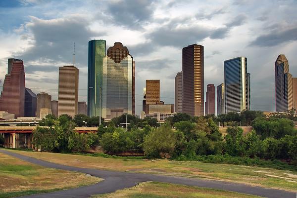 Houston skyline in HDR
