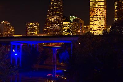 Houston Skyline with Blue Bayou
