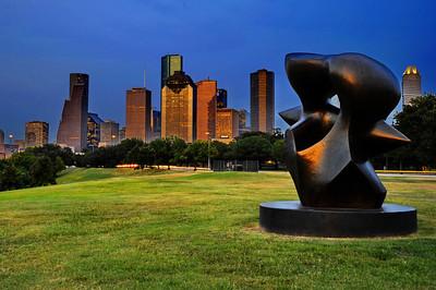 Houston Skyline on Allen Parkway