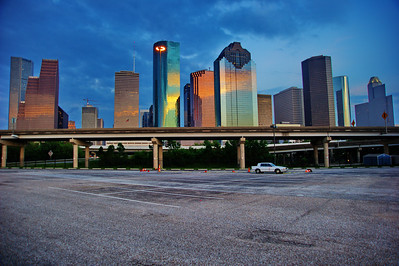 Houston skyline from Fonde Recreation Center