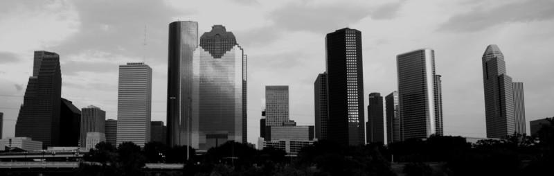 Houston Skyline in Black & White