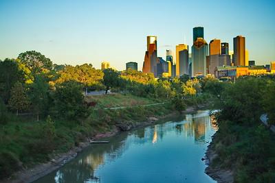 Houston Skyline from Buffalo Bayou Bridge