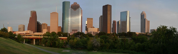 Pano of Houston skyline with Leica camera