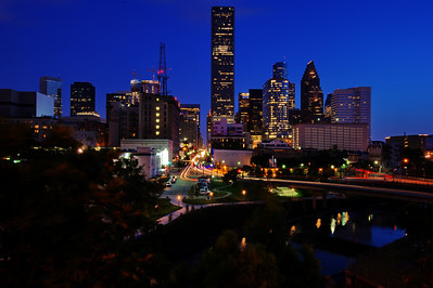 Travis Street & the Houston Skyline