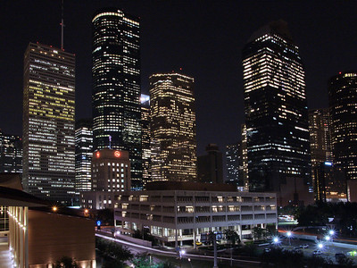 Downtown Houston from Hobby Center parking garage