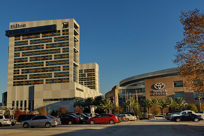 Hilton Hotel and Toyota Center