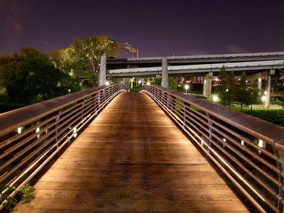 Footbridge behind Hobby Center