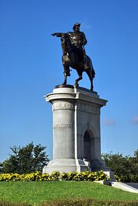 Sam Houston's statue in Hermann Park
