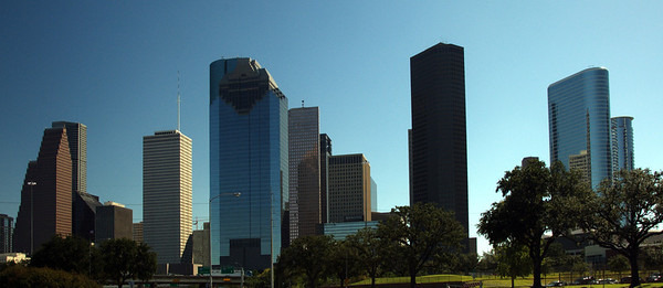 Houston, Texas from Allen Parkway