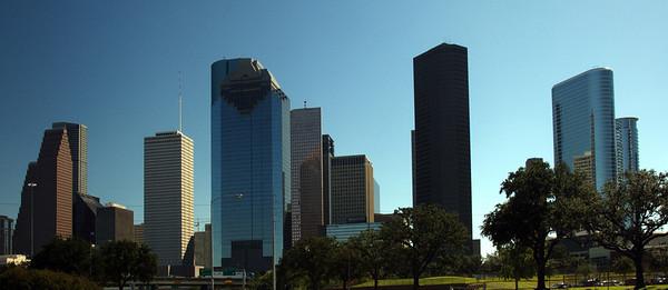 Houston, Texas from Allen Parkway