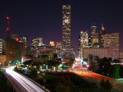 Downtown Houston Skyline from U of H Downtown