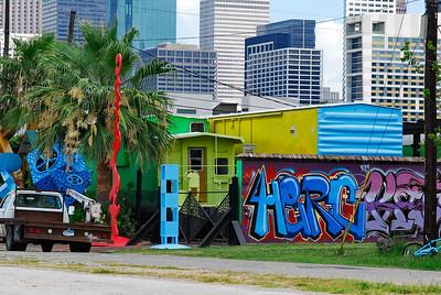 Painted Boxcars at Pease and Dowling are law offices....a neighborhood need.