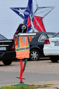 This is not her good side obviously.  You can see her on Long Point near Silber at a car repair shop.