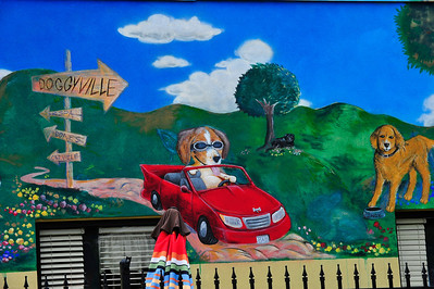 Doggyville ad mural