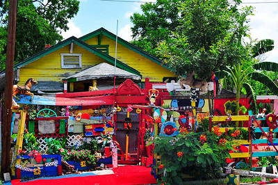 """This is a whacky Houston sight called """"the Flower Man"""" at 2300 Francis in 3rd Ward."""
