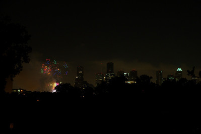 July 4th Fireworks over Houston, 2010