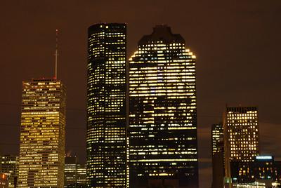 Houston downtown lights