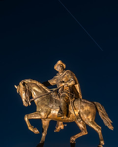 International Space Station flyover, Sam Houston statue, Hermann Park