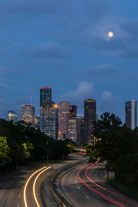 Downtown Houston along Memorial Drive