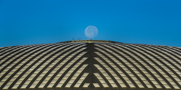 Moonrise over Houston Astrodome