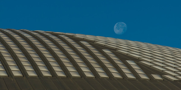 Moonrise over Houston Astrodome, # 2