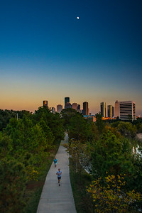 Moonlight jog along Allen Parkway and Buffalo Bayou in Houston 0054