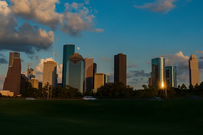 Downtown Houston near Eleanor Tinsley Park