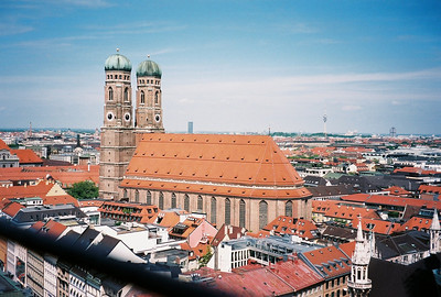 Frauenkirche - The Catholic Cathedral of Our Blessed Lady is the landmark of Munich and the city's largest church; it holds up to 20,000 people.