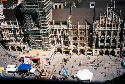 Marienplatz - Marien Square and the New Town Hall of Munich; Marienplatz is the central square in the heart of Munich
