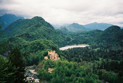 Hohenschwangau Castle where King Ludwig II was born and raised is nearby.