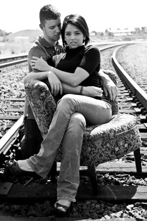 Houston-Engagement-Downtown-Railroad- Tracks-C-Baron-Photo-001